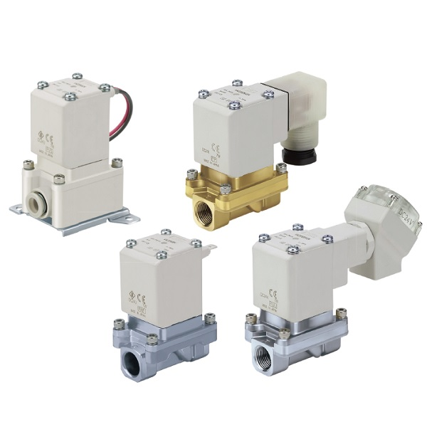 Zero Differential Pressure Type/Pilot Operated 2 Port Solenoid Valve VXZ