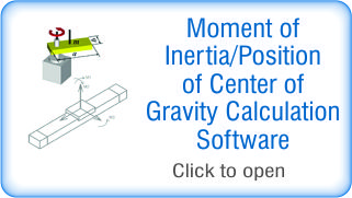 Moment of Inertia ⁄ Position of Center of Gravity Calculation Software